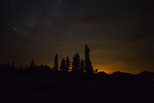 Traveled from Seattle at midnight to get to Sunrise Peak at Mount Rainier to watch the remaining Perseid Meteor Shower